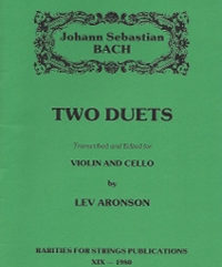Bach J.S. (Aronson)Two Duets for Violin & Cello