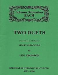 Bach J.S. (Aronson)Two Duets for Violin & Cello