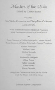 Banat, Gabriel - Masters of the Violin Volume 1 - Description of Contents
