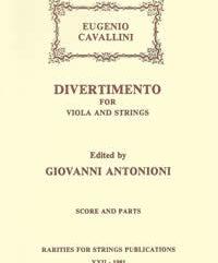 Cavallini, Eugenio (Antonioni)Divertimento for Viola & Strings in G Major(Score and Parts)