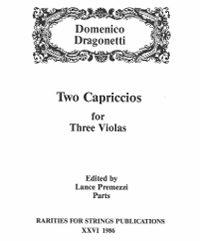 Dragonetti, Domenico (Premezzi)Two Capriccios for Three Violas(Parts)