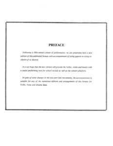 Eccles, Henry - Sonata in G Minor for Cello and Strings - Preface