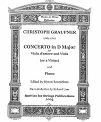 Graupner, Christoph (Myron Rosenblum)Concerto in D Major for Viola d'Amore and Viola (or Two Violas) & Piano