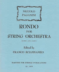 Paganini, Niccolo (Sciannameo)Rondo for String Quartet or String Orchestra(Score and Parts)