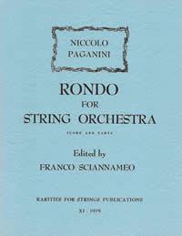 Paganini, Niccolo (Sciannameo)Rondo for String Quartet or String Orchestra(Score and Parts)
