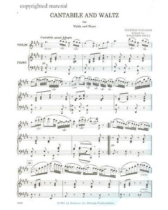 Paganini, Noccolo - Cantabile and Waltz - Music