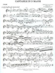 Paganini, Noccolo - Cantabile in D - Music
