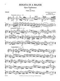 Paganini, Noccolo - Sonata in A - Music