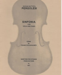 Pergolesi, G. B. - Sinfonia for Viola and Piano - Cover