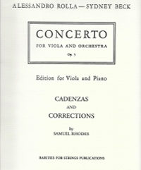 Rolla, Alessandro (Beck)Concerto for Viola in E Flat Major, Op. 3