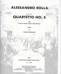 Rolla, Alessandro (Sciannameo)Quartet No. 5 for Flute, Violin, Viola & Cello(Parts)