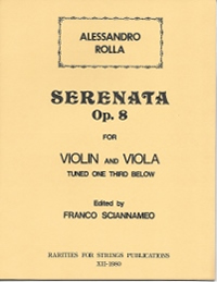 Rolla, Alessandro (Sciannameo)Serenata Op. 8, No. 1 for Violin & Viola