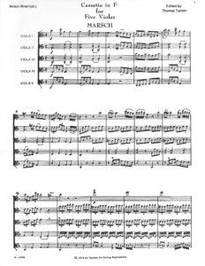 Wranitzsky, Anton - Cassatio in F for Five Violas, Score and Parts - Music