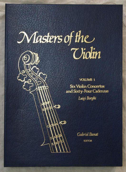 Banat, GabrielMasters of the ViolinVolume 1