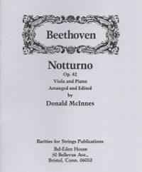 Beethoven, L. Van (McInnes)Notturno Op. 42 for Viola & Piano