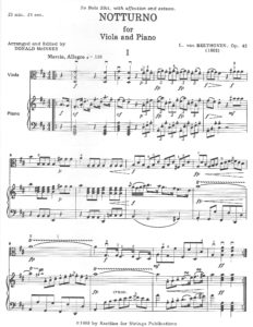 Beethoven, L. Van - Noturno Op. 42 for Viola & Piano - Music