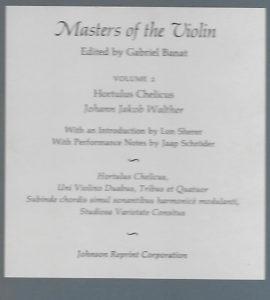 Banat, Gabriel - Masters of the Violin Volume 2 - Description