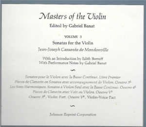 Banat, Gabriel - Masters of the Violin Volume 5 - Description of Contents